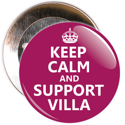 Keep Calm and Support Villa Badge