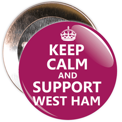 Keep Calm and Support West Ham Badge