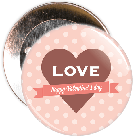 Love Happy Valentine's  Day Badge