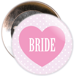 Pink Classy Bride Hen Party Badge