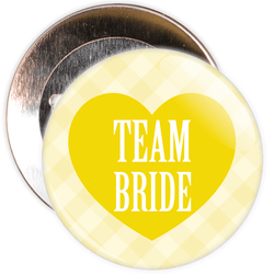 Yellow Classy Team Bride Hen Party Badge