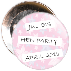 Customisable Classy Hen Party Badge