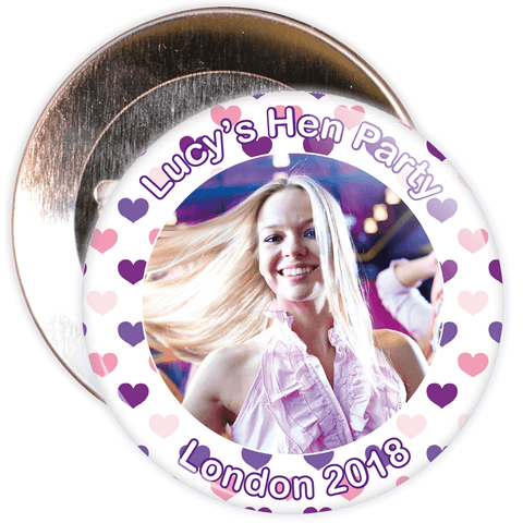 Customisable Hen Party Photo Badge