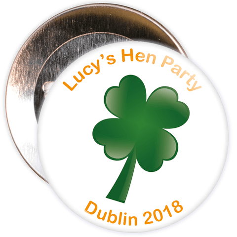 Customisable Irish Themed Hen Badge