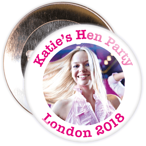 Customisable Hen Night Photo Badge
