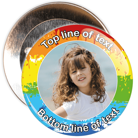Multicoloured Bordered Photo Badge