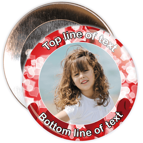 Red Heart Border Styled Photo Badge