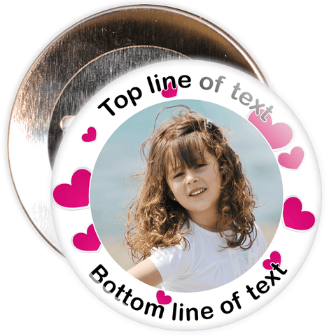 Heart Border Styled Photo Badge