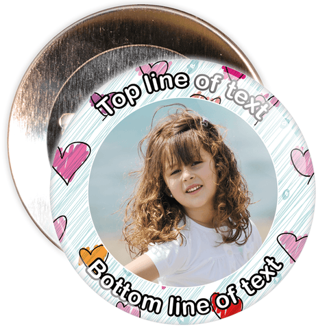 Abstract Heart Border Styled Photo Badge