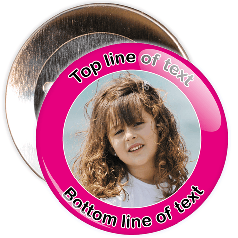 Pink Bordered Photo Badge