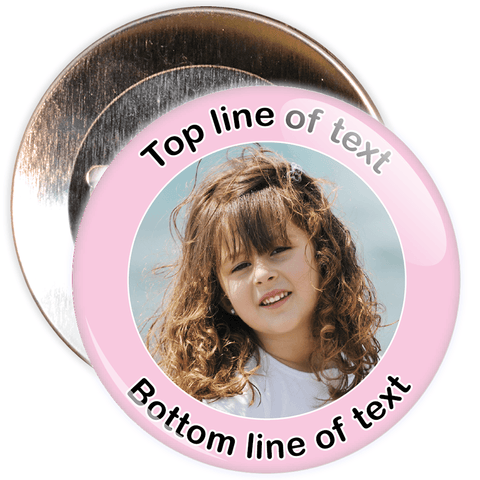 Light Pink Bordered Photo Badge