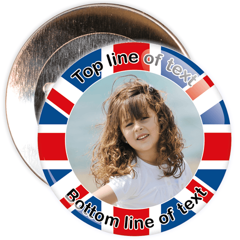 UK Themed Photo Badge