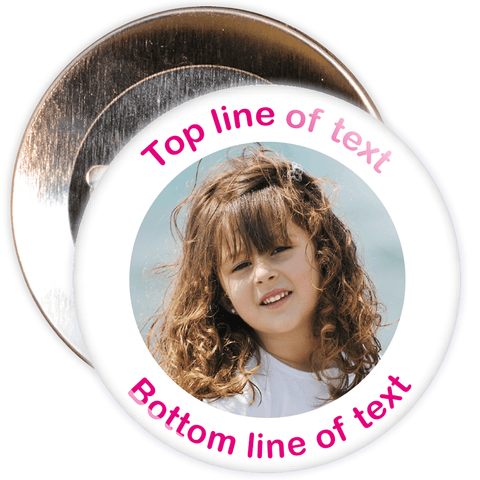 White Bordered Photo Badge
