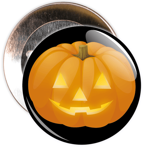Pumpkin Halloween Badge (black)
