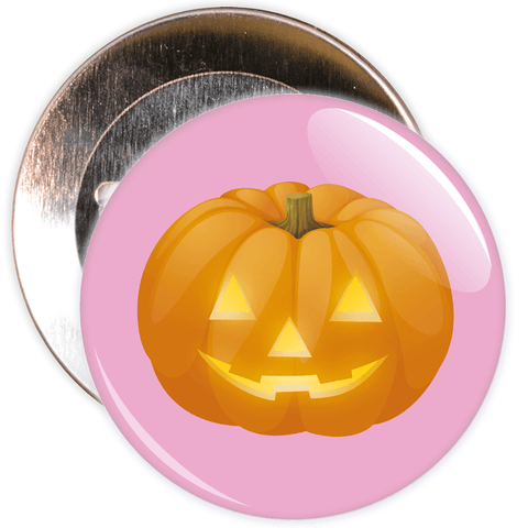 Pumpkin Halloween Badge (pink)