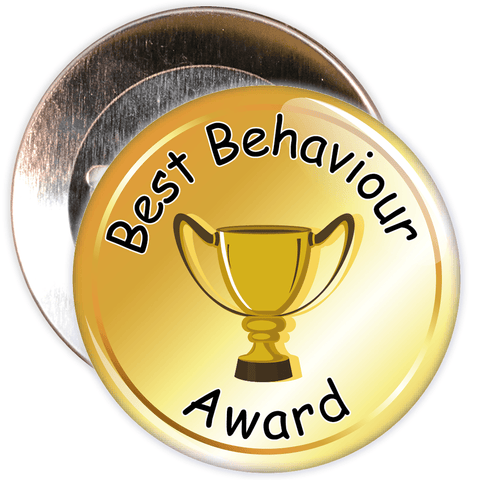 School Behaviour Award Badge (gold)