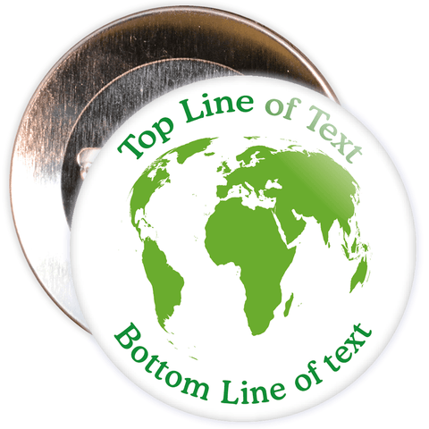 Customisable Eco Globe Badge