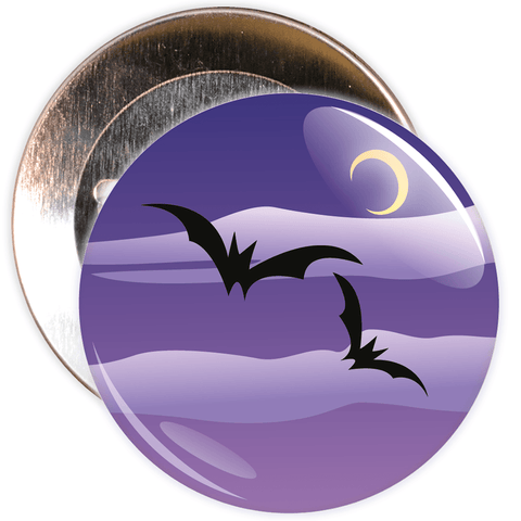 Spooky Bats Halloween Badge