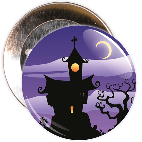 Spooky House Halloween Badge