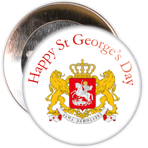 Happy St George's Day Badge