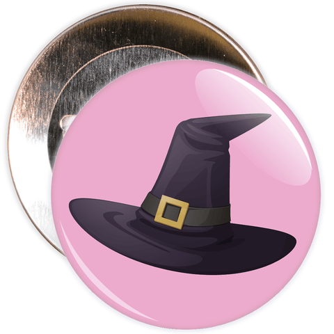 Witch Hat Halloween Badge