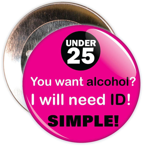 Challenge 25 Badges - You want Alcohol? (pink)