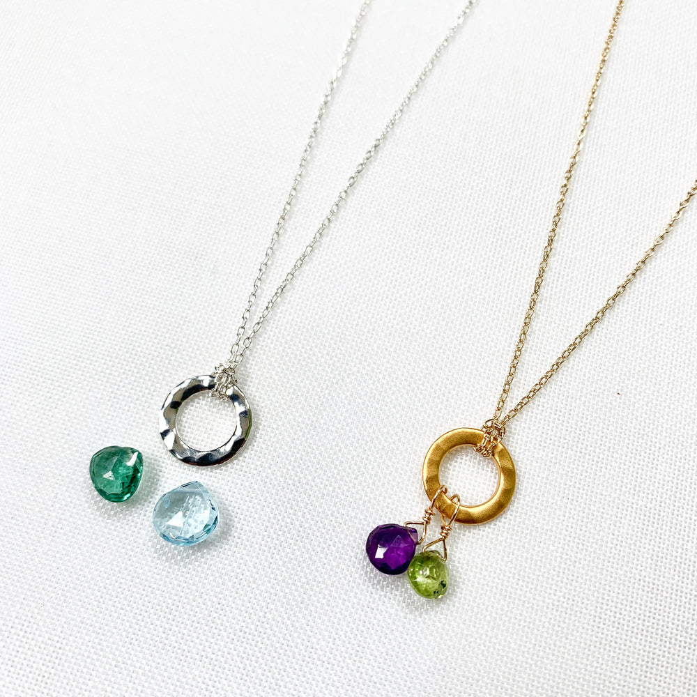 Custom Design Birthstone Necklaces