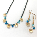 Citrine & Blue Topaz Ruffle Collection
