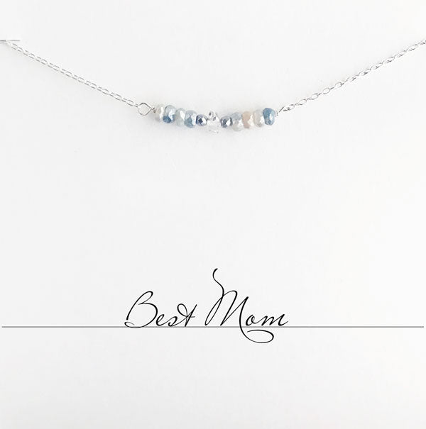 Best Mom Blue Moonstone Necklace