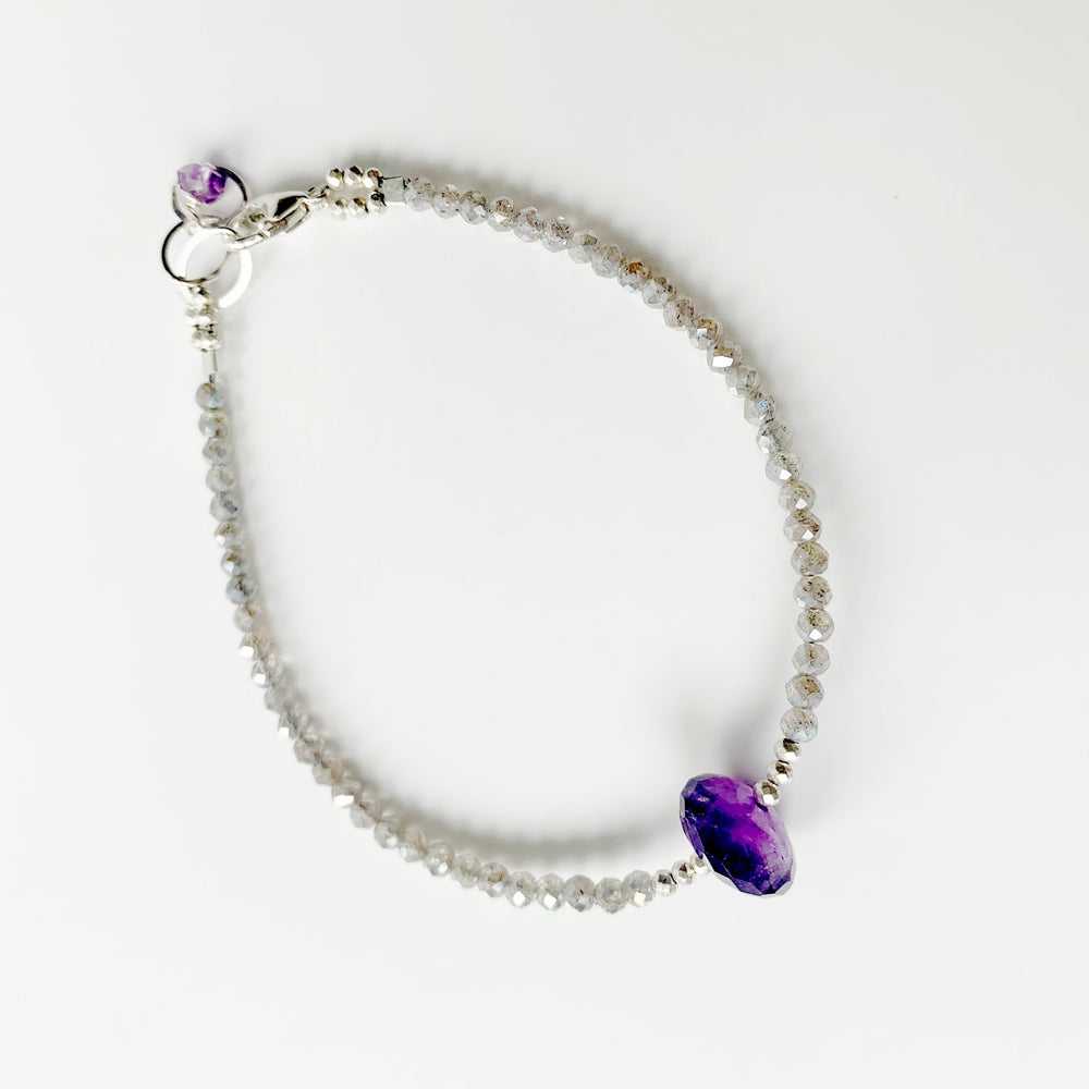 Amethyst Leilia Simple Bracelet