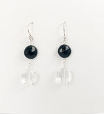 Quartz and Spinel Earring