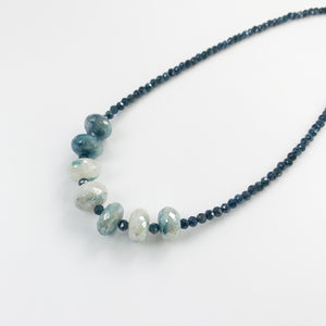 Load image into Gallery viewer, Leilia Blue Moonstone Necklace