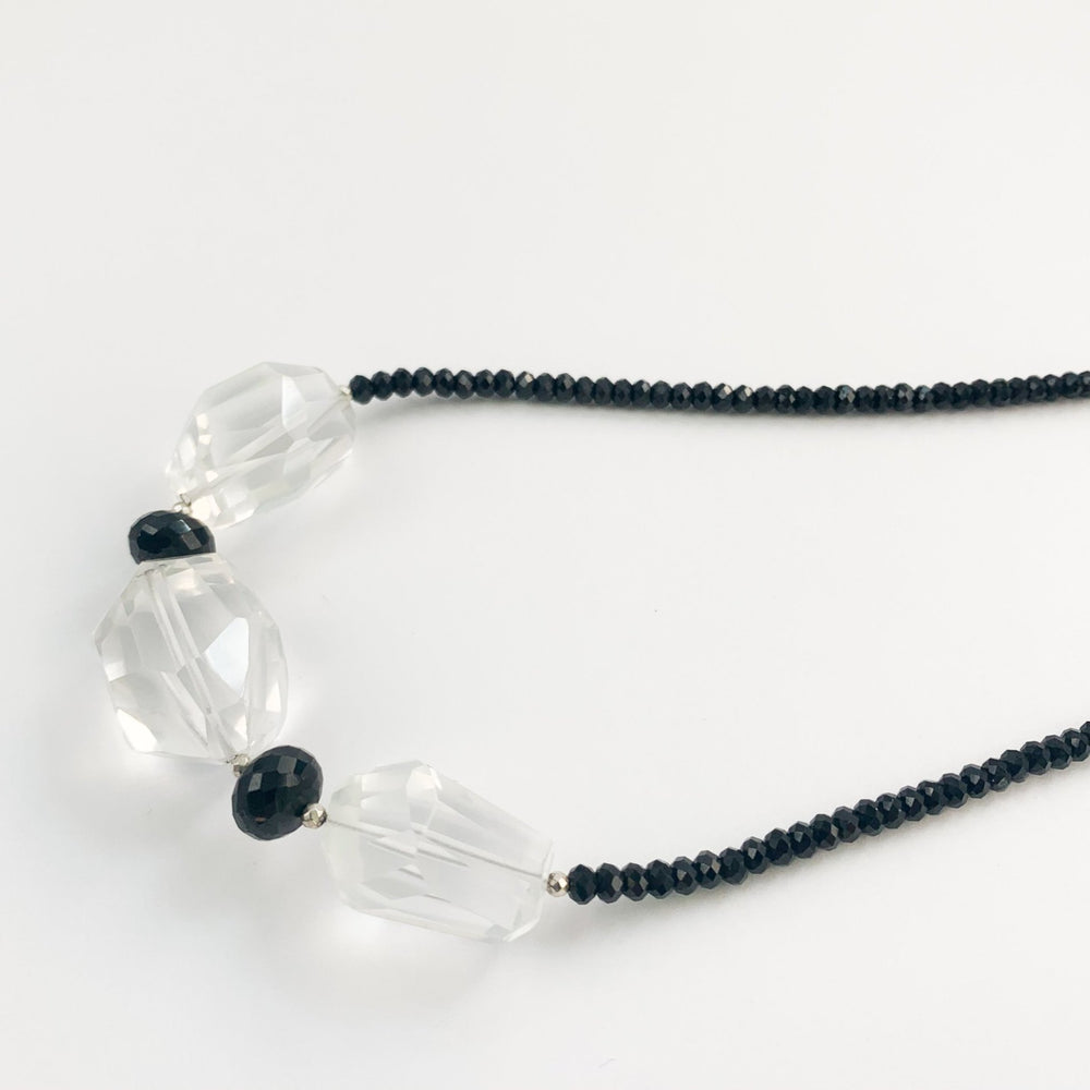 Quartz and Spinel Claudina Necklace