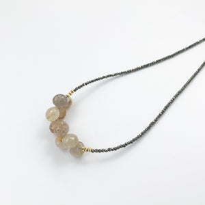 Rutilated Quartz Cluster Necklace
