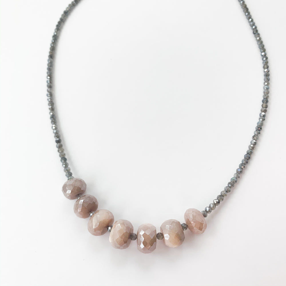 Pink Moonstone Leilia Necklace