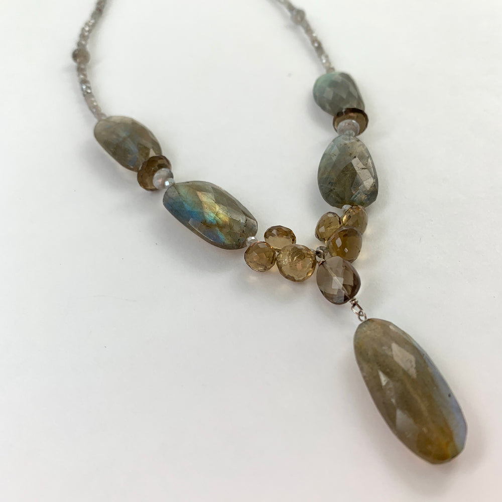 Oval Labradorite Claudina Necklace
