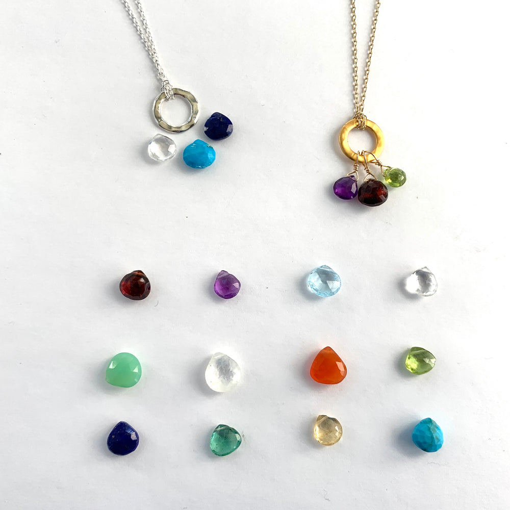 Load image into Gallery viewer, Custom Ring Necklace 3 Stones