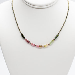 Tourmaline Iris Necklace