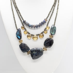 Morning Cloak Blue Labradorite Necklace