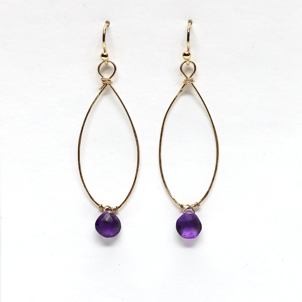 Load image into Gallery viewer, Linden Amethyst Earring