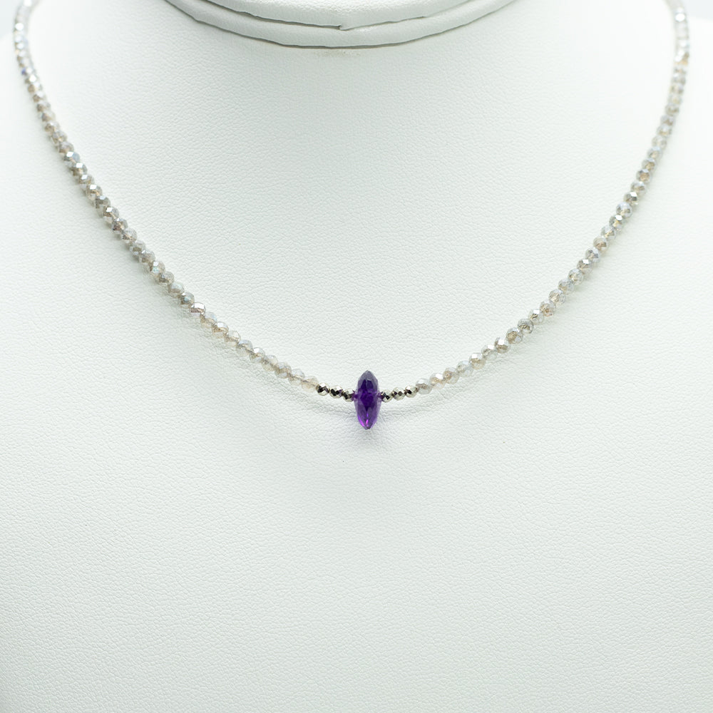 Load image into Gallery viewer, Amethyst Luna Necklace