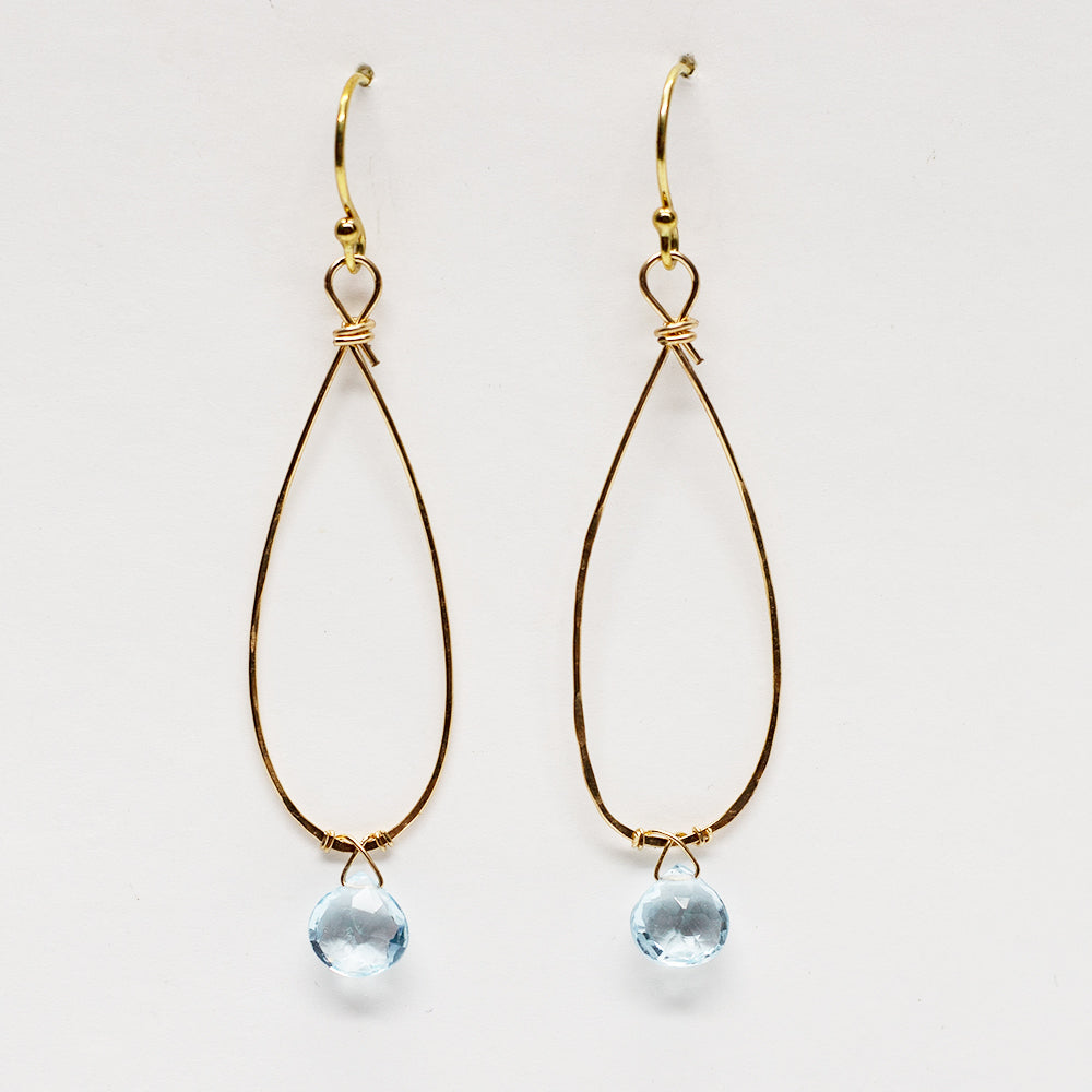 Load image into Gallery viewer, Linden Aquamarine Earrings