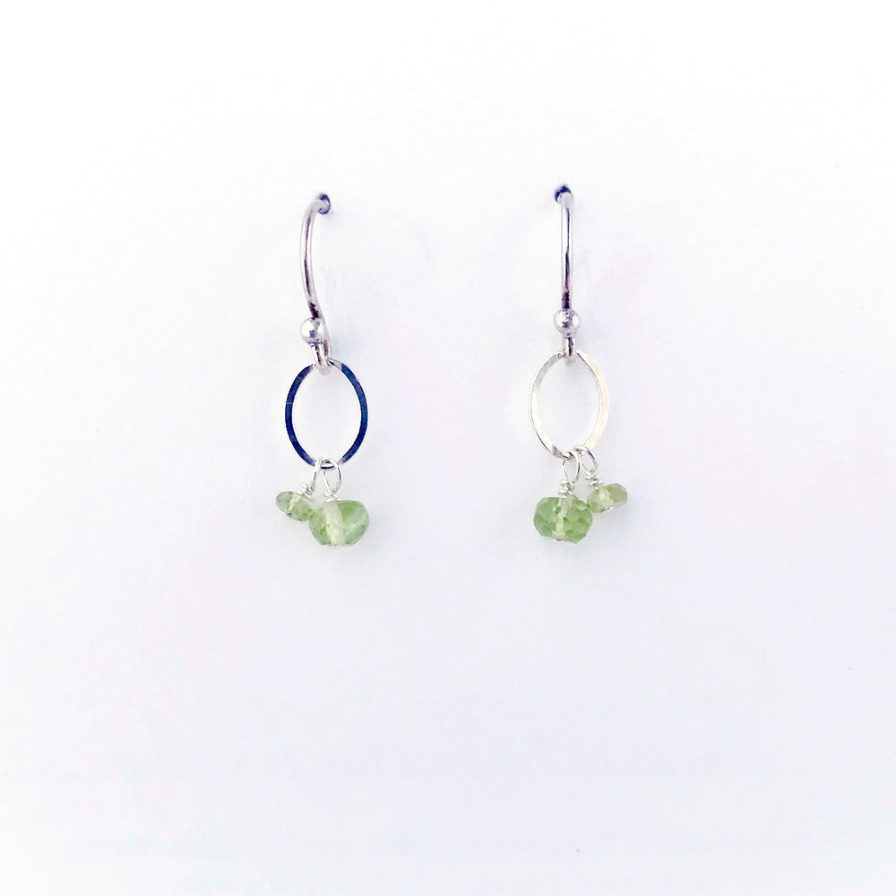 August Silver Birthstone Earrings