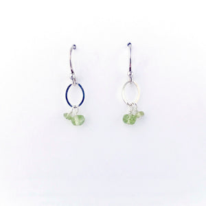 Load image into Gallery viewer, August Silver Birthstone Earrings
