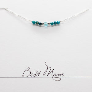 Apatite & Chrysocolla Bar Necklace