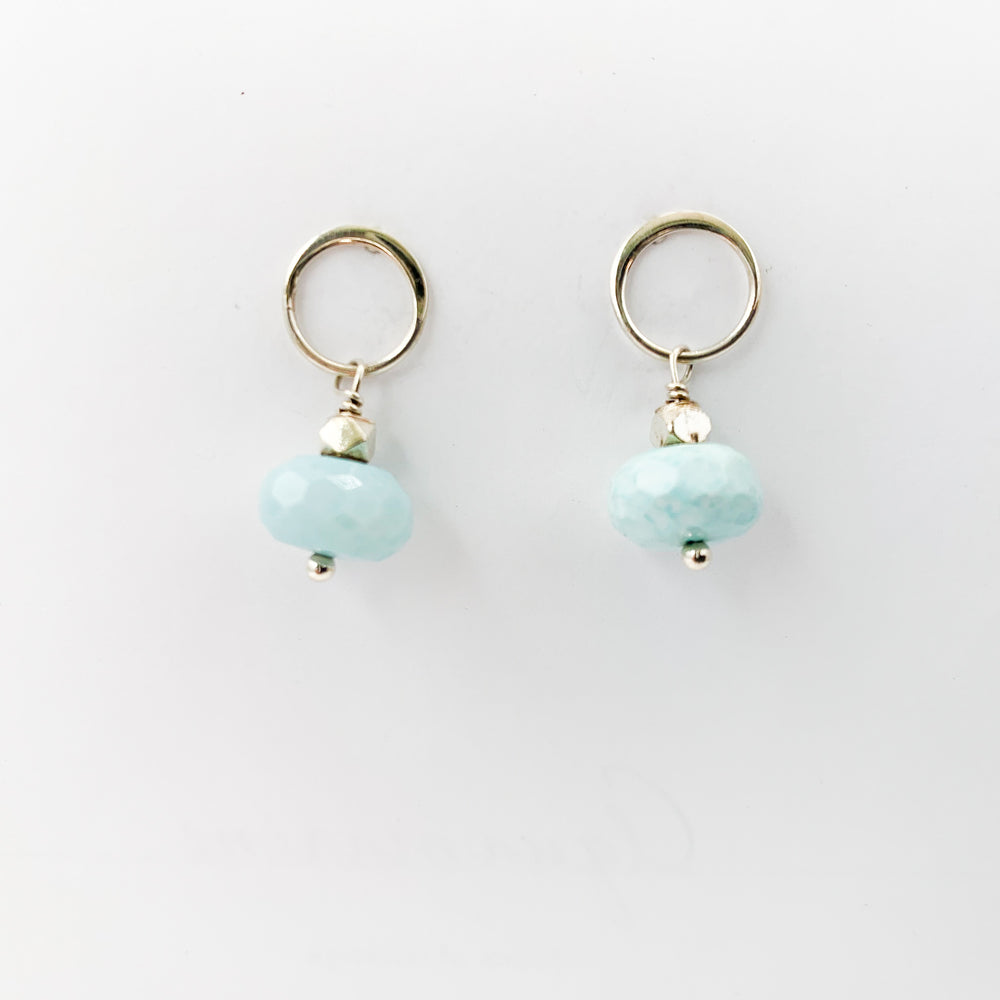 Blue Opal Luna Post Earrings