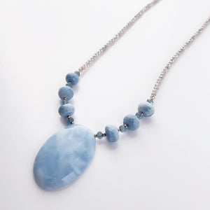 Blue Lace Agate Pendant Necklace