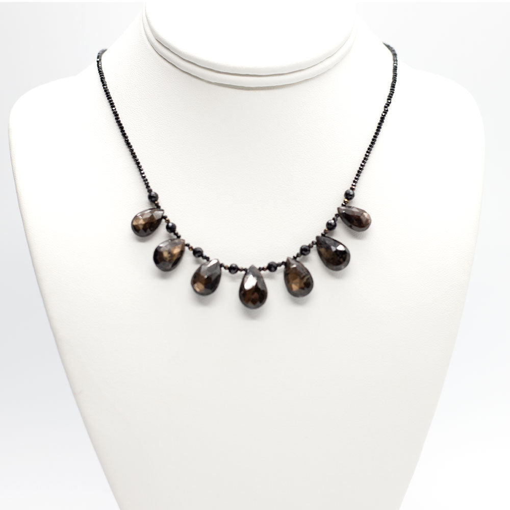 Brown Sapphire Quarter Ruffle Necklace