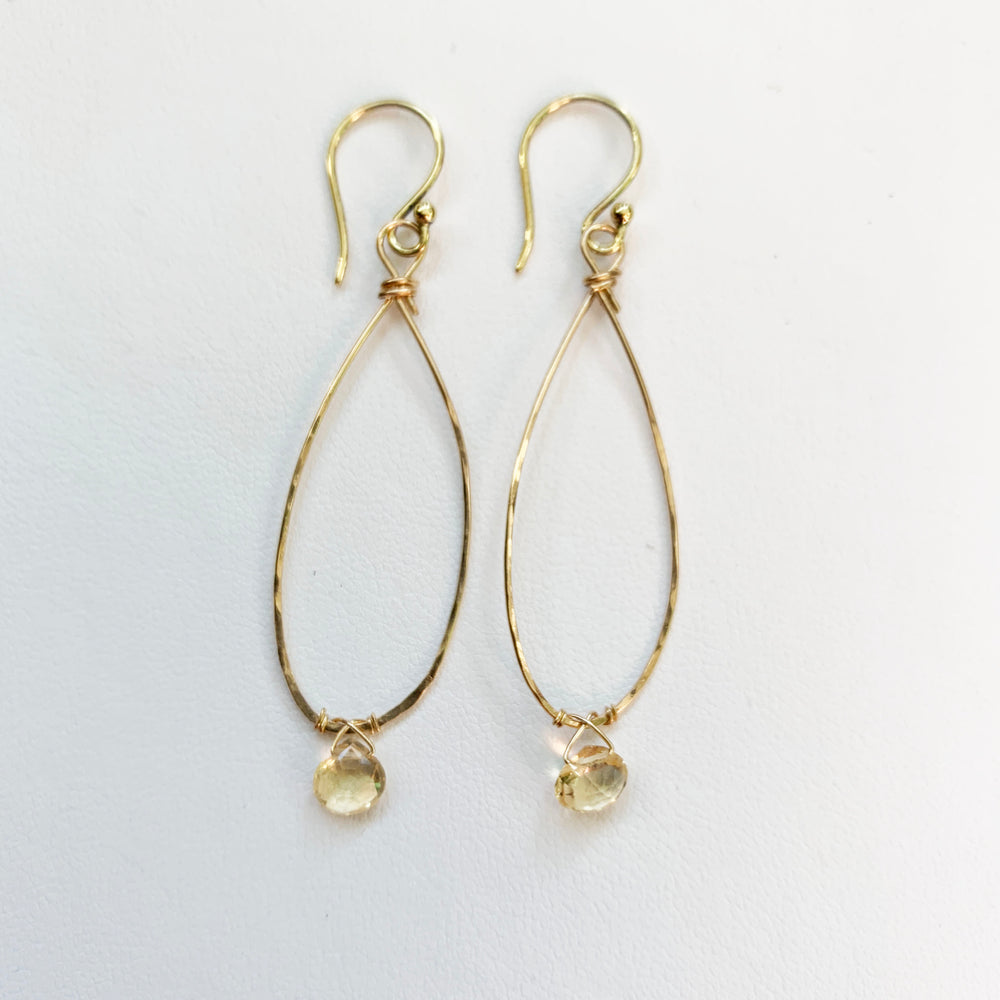 Load image into Gallery viewer, Linden Citrine Earring