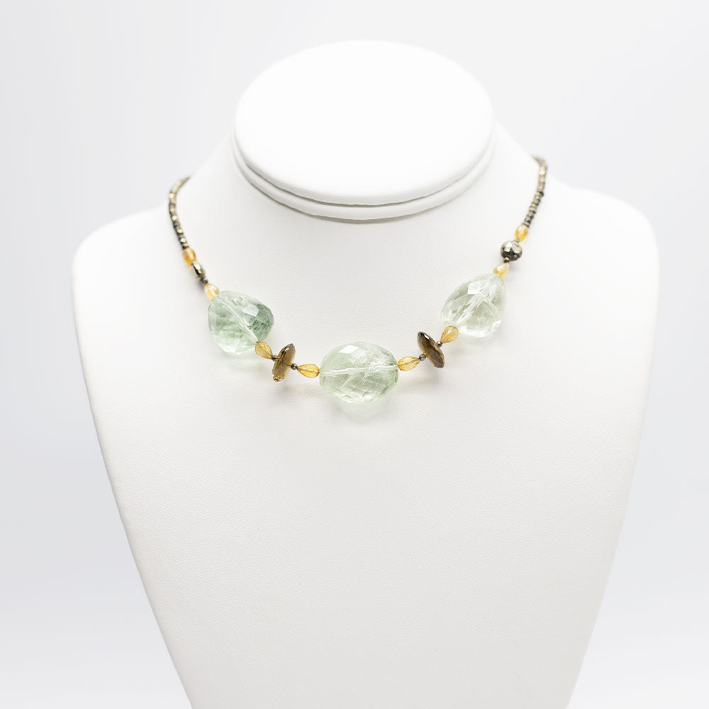 Claudina Green Amethyst Necklace